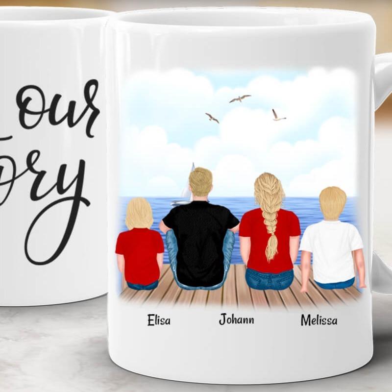 Personalisierte Tasse Familie Familientasse